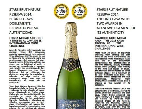 Cava Stars brut nature 2014 in de prijzen!